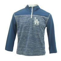 Los Angeles Dodgers Kids Youth Size Official MLB Warm Up Quarter Zip New