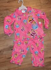 Disney Winter Princess Shirt & Pants 2 Piece Pajamas Set ~ Bell,Cinderella ~ 2T