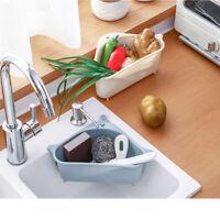 Triangular Sink Filter Strainer Drain Vegetable Fruit Drainer Basket Sponge Rack