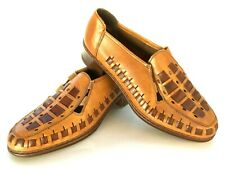 RIEKER Antistress Women's Sz 6.5 Brown Woven Leather Casual Shoe