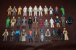 """Star Wars Vintage Action Figure Lot of 34 - Kenner 1978-1982 Greedo HK - 3 3/4"""""""