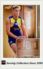 2017 AFL Footy Stars Trading Card Milestones Subset MG73 Brad Sheppard(W. Coast