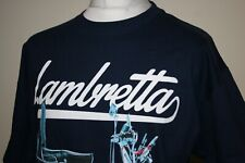 New ListingLambretta Navy Blue Moped Graphic Heavyweight T-Shirt L Mod Scooter Excon Top