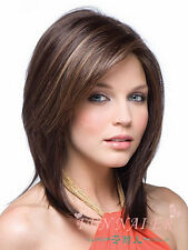 Hot sell ! new style straight brown mix blonde hair wigs for women full wig/Wigs