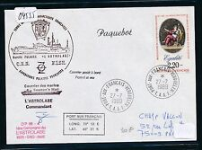 04555) Antarktis Frankreich Expedition TAAF Astrolabe signed 27.7.89
