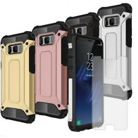 Smartphone Case Armor For Samsung Galaxy S8 Plus With Phone Screen Protector