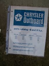 1977 Chrysler 6 HP 8 HP Outboard Motor Parts Catalog MORE BOAT ITEMS IN STORE  V