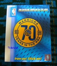 2016-2017 Golden State Warriors 70 Years in NBA 70th Anniversary large patch