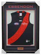 Essendon 2018 Signed Official AFL Team Jumper Framed Dyson Heppell Daniher + COA