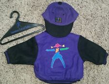 American Girl retired purple varsity jacket and hat outfit set
