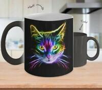 COLOR CHANGING MUG Cat Lover - Inspirational Mug - Coffee Mug Tea Cup Gift