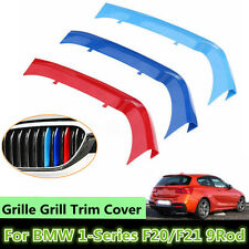 3x Tricolor Front Grille Grill Strip Cover Trim For BMW 1 Series F20/F21 15-16