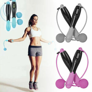 Digital LCD Jumping Skipping Rope Calorie Count Counter Timer Gym Fitness HOT