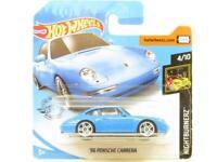 Hotwheels 96 Porsche Carrara Blue Nightburnerz Short Card 1 64 Scale Sealed