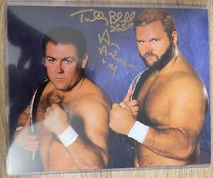 ARN ANDERSON AND TULLY BLANCHARD Signed 8x10 Photo Autograph! Highspots COA!!