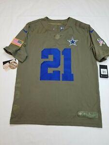 Dallas Cowboys Ezekiel Elliott Men's Nike Salute to Service Limited Jersey Large