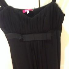 Diana Ferrari Strappy Black Below Knee Dress Size 10