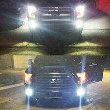 2x Xenon White High Power LED Fog Lights Bulbs For 2015 2016 2017 2018 F150 F250