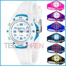 Analoge Damen Kinder XONIX Armbanduhr mit Licht wasserfest bis 100m nickelfrei