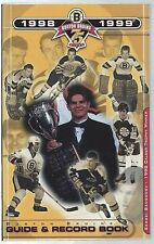 1998-99 Boston Bruins NHL Hockey Media Guide Yearbook Record Book