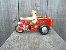 CAST IRON  MOTORCYCLE CRASH CAR,GE, SERVI-CAR,TRIKE WLA HARLEY-INDIAN - HARLEY
