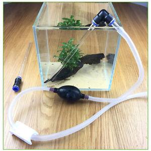 Aquarium Fish Tank Water Changer Pump Pipe Gravel Filter Cleaner Vacuum Tube