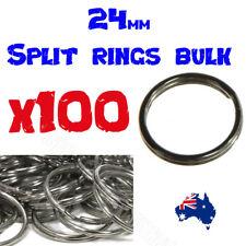 24mm BULK LOT Metal Split Rings  100% Brand new and high quality x 100 Pack