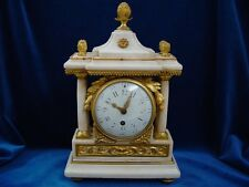 Antike Louis-Seize Pendule Uhr c1790. Marmor.Feuervergoldete Bronze.Klassizismus