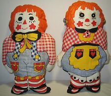 """14"""" Vintage Raggedy Ann & Andy Handmade Stuffed Characters Pillows Dolls Toys"""