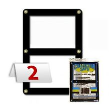 2 Baseball, Trading DOUBLE CARD HOLDER Collector Safe Brass Screws Holds 2 Cards