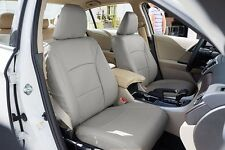 HONDA ACCORD 2013-2017 GREY LEATHER-LIKE CUSTOM MADE FRONT SEAT COVER