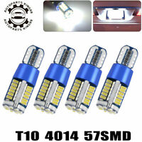 4X T10/T15 4014 LED Interior Map Dome License Light Bulbs W5W 194 192 921 White