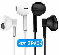 Headphones in-ear Earbud Earphones w/ Remote & Microphone For Apple Android 2x
