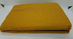 Pair of Bed Threads Turmeric 100% Flax Linen Pillow cases Standard.
