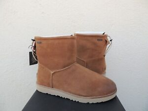 UGG CHESTNUT CLASSIC TOGGLE WATERPROOF SUEDE WINTER BOOTS, US 13/ EUR 47 ~NIB
