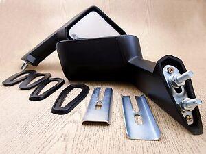 FOR Toyota Corona Mark II Cressida X MX 1968-84 Black Fender Mirrors Pair ABS