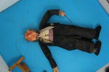 antike uralte Marionette - Puppe Mann Dirigent an Schnüren