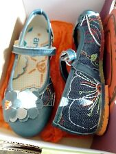 The Art Company Girls denim messy Shoes, BNIB, size EU 31, UK 12.5, blue floral