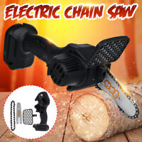 """4"""" Mini Electric Cordless Chainsaw Wood Cutter Rechargeable Battery For Makita"""