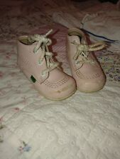 Girls KICKERS Winter Ankle Boots INFANT SIZE 5 Brown Leather Shoes
