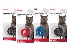 BEAPHAR PLASTIC WATERPROOF CAT KITTEN FLEA COLLAR 4 MONTH PROTECT