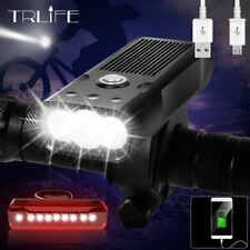 Bicycle Waterproof Headlight USB Rechargeable Power Bank