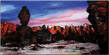 BURGSTALLER ORIGINAL Gemälde Bild Painting Malerei Kunst Leinwand Wüste TASSILI