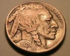 1926-S Buffalo Nickel Ch VF RARE KEY Nice Toned Original Indian Head 5C USA Coin