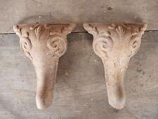 Ornate legs LOT of 2 Antique Cast Iron Foot Bathtub? Leg Architecture Salvage