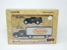 Ertl True Value Ford 1937 Cab and Trailer + 1932 Panel Delivery Van 1/43 1995 R2
