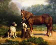 Two Dogs and a Horse by Henry Ossowa Tanner  Art Outdoor Country 8x10 Print 0279