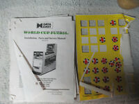 WORLD CUP FUTBOL DATA EAST  WITH STICKERS   arcade game manual