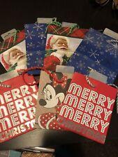 Assorted Hallmark Chrismas Small Gift Bags 7 Total