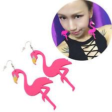 Acrylic Flamingo Earrings Womens Jewellery Hook Pendant Dangle Ear Stud Fashion